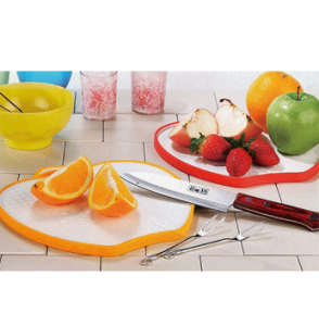 Nature Wheat Straw Apple Shape Chopping Board -No. Gd016-Kitchen Utensil