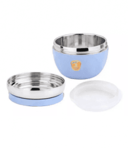 Stainless Steel Children Bowl Lunch Box With Spacer Layer-No. Scb24-Tableware