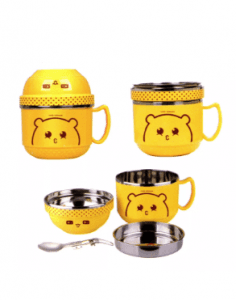 4 Set Series Stainless Steel Children Cartoon Cups and Lunch Box Scc007