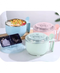 High Quality Rice Soup Noodles Bowl,304 Kids Lunch Box With Spoon
