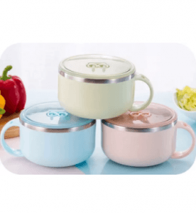 Round Single Ear Children Bowl,High Quality Environmental Lunch box