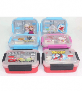 Cartoon Single Layer Comparments Stainless Steel Lunch Box Lb-036