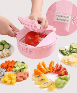Factory Direct Sale Multi-function Press Type Vegetable Grater Fruit Cutter
