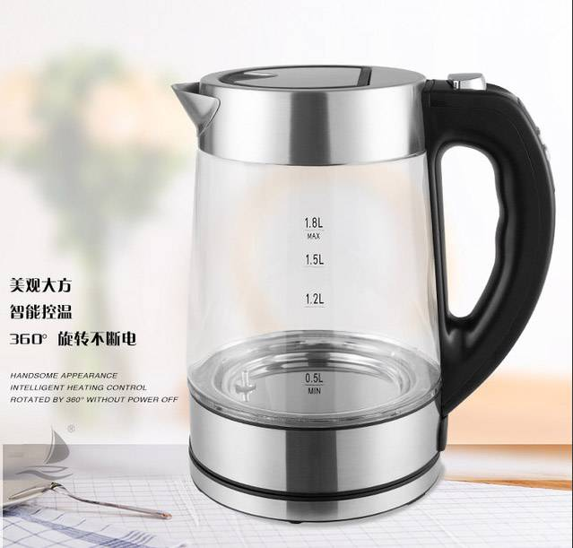 OEM 1.8L High Borosilicate Glass Digital Electric Kettle LED Color Change Heat Preservation Water Kettle Featured Image
