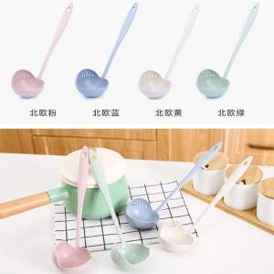 2 In 1 Anti Scalding Environmental Protection Wheat Straw Soup Spoon Slotted Ladle
