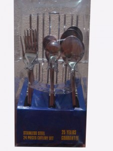 24PCS Stainless Steel Dinner Cutlery Set No. CT24-S04