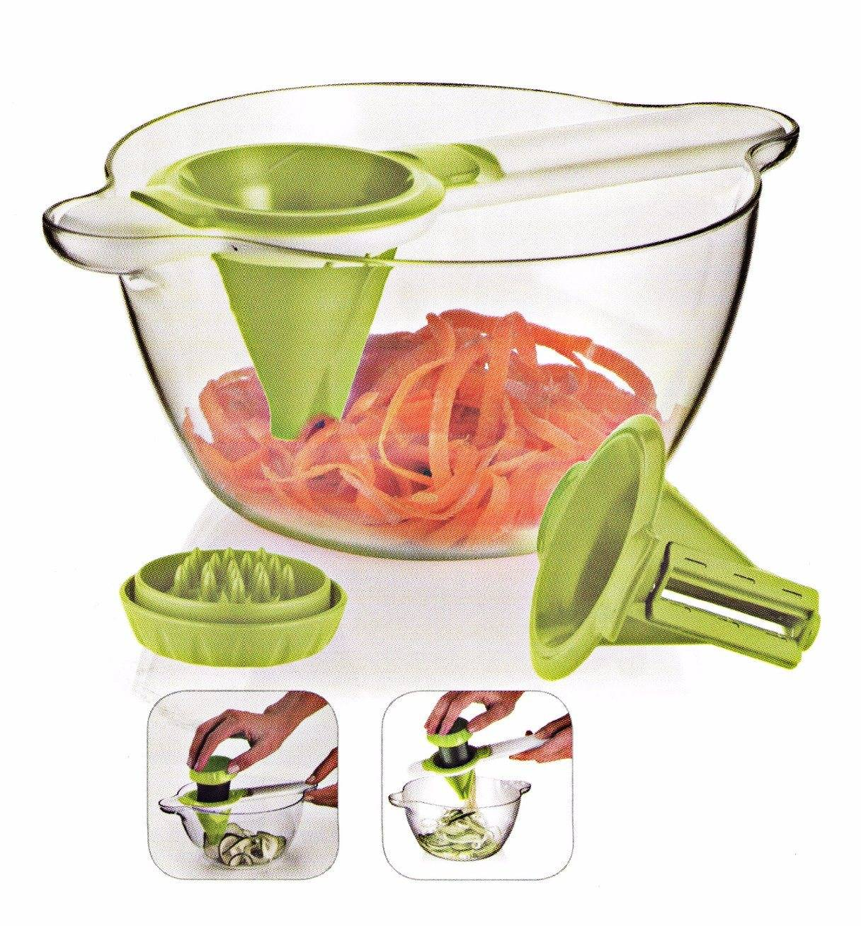 2 in 1 Plastic Food Processor Vegetable Chopper Cutting Machine Cg026