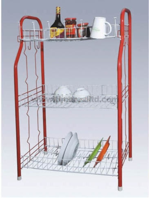3 Tiers Metal Wire Kitchen Storage Rack Sr-C001