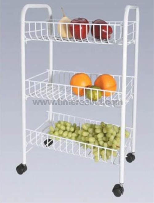3 Tiers Wire Steel Kitchen Storage Rack with Painting Sr-Bp001