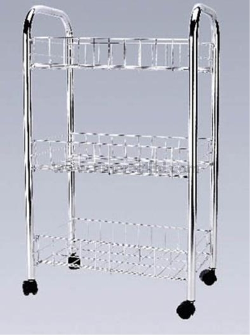 Chrome 3 Tiers Steel Kitchen Storage Rack Sr-B002