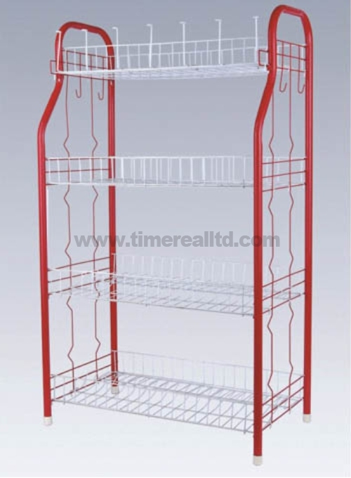 4 Tiers Metal Wire Kitchen Storage Cartsr-C002