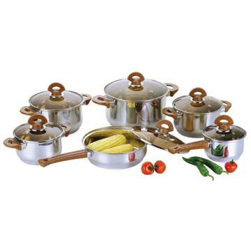 Stainless Steel Cookware Set Cooking Pot Casserole Frying Pan S107