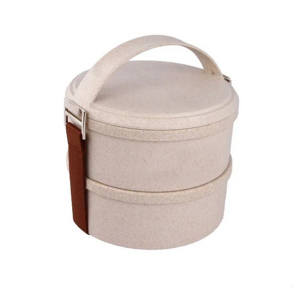 Nature Wheat Straw Lunch Box-No. Gd011-Dinnerware