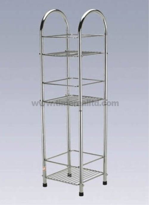 Chrome Wire Metal Kitchen Storage Rack Sr-C004