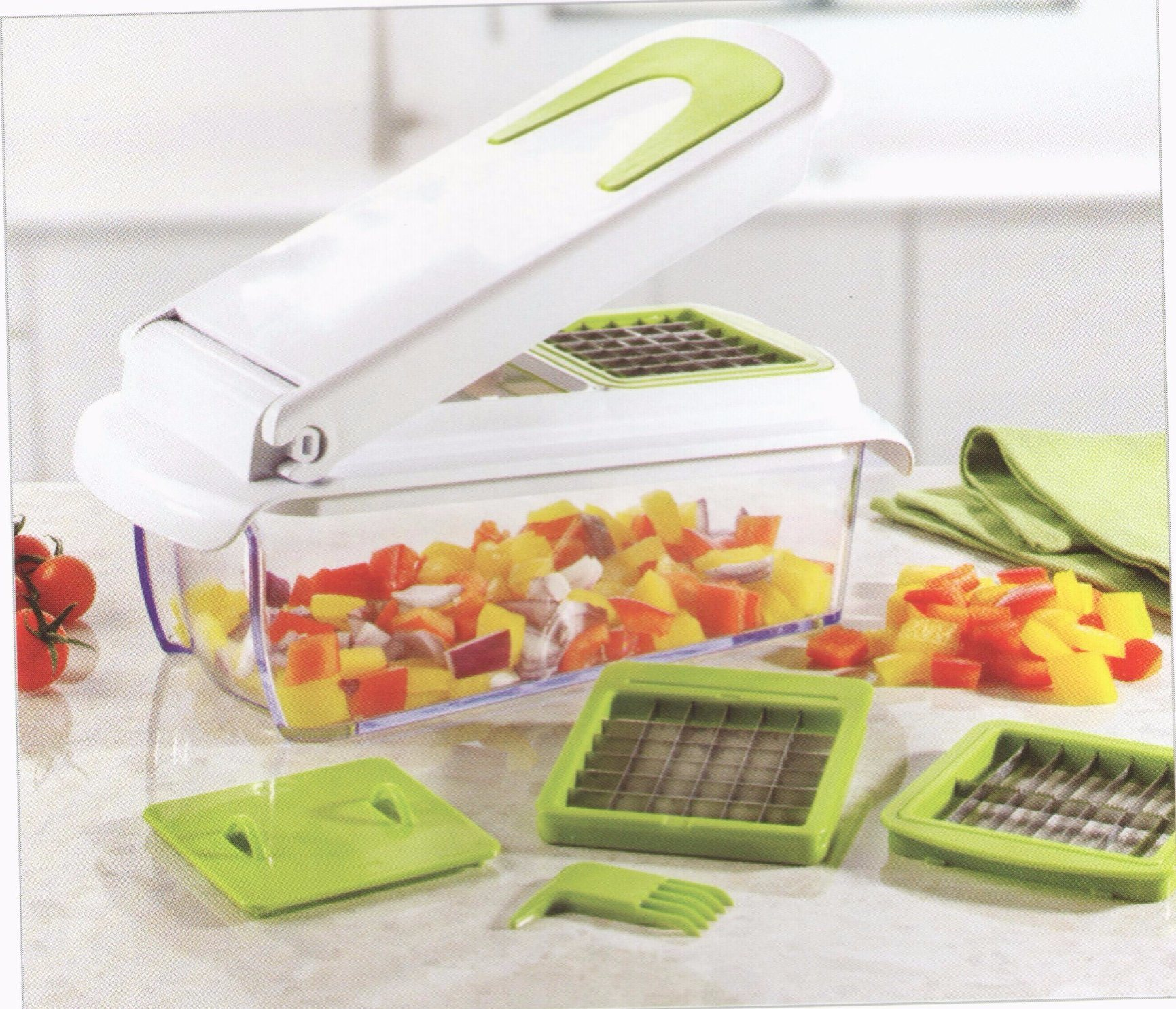 Plastic Food Processor Vegetable Chopper Dice Slice Cutting Food Machine Cg067
