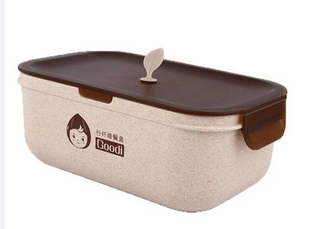 Nature Wheat Straw Lunch Box-No. Gd007-Dinnerware
