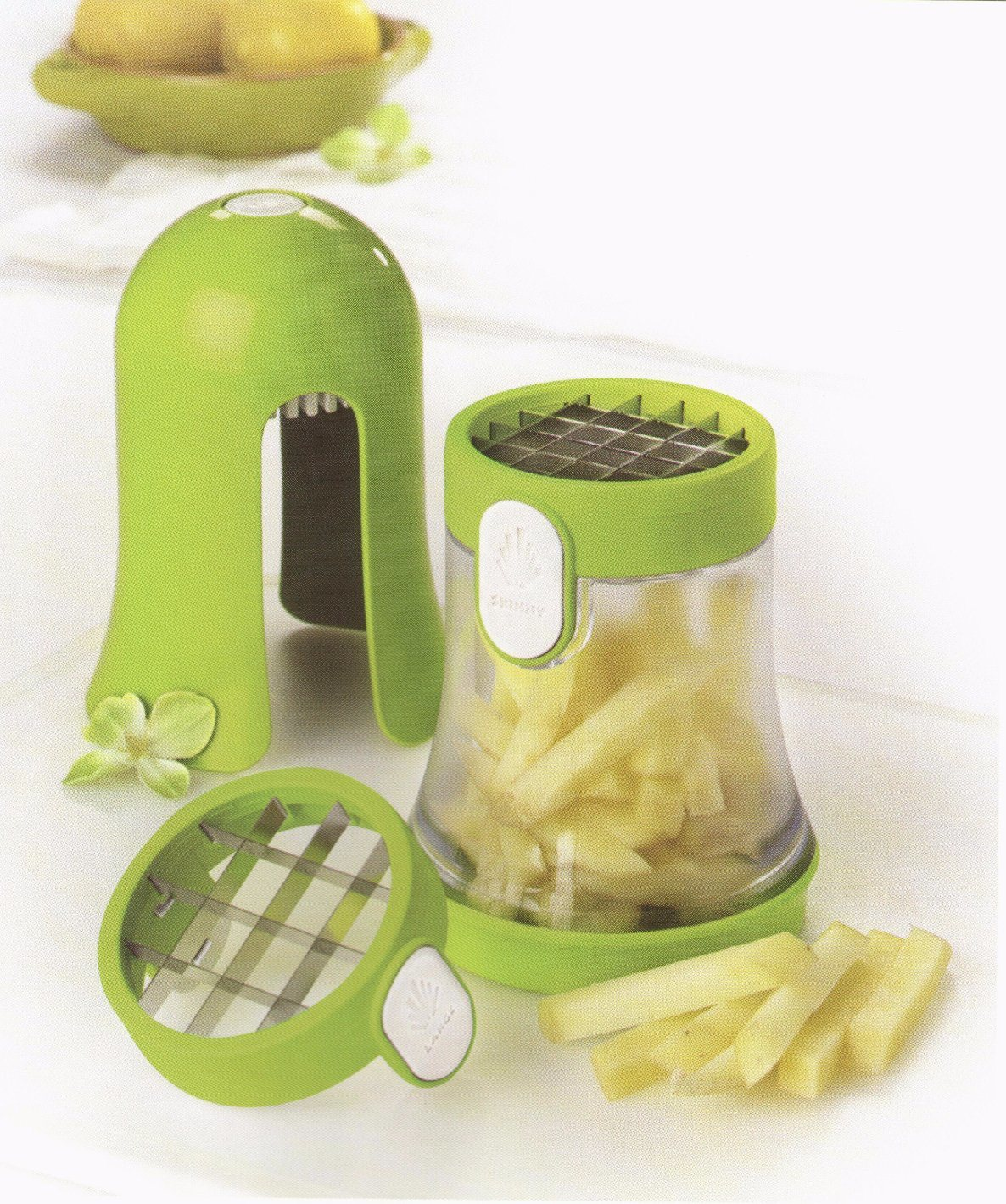 2 in 1 Fashion Plastic Vegetable Cutting Food Chopper Dice and Slice Machine Cg074