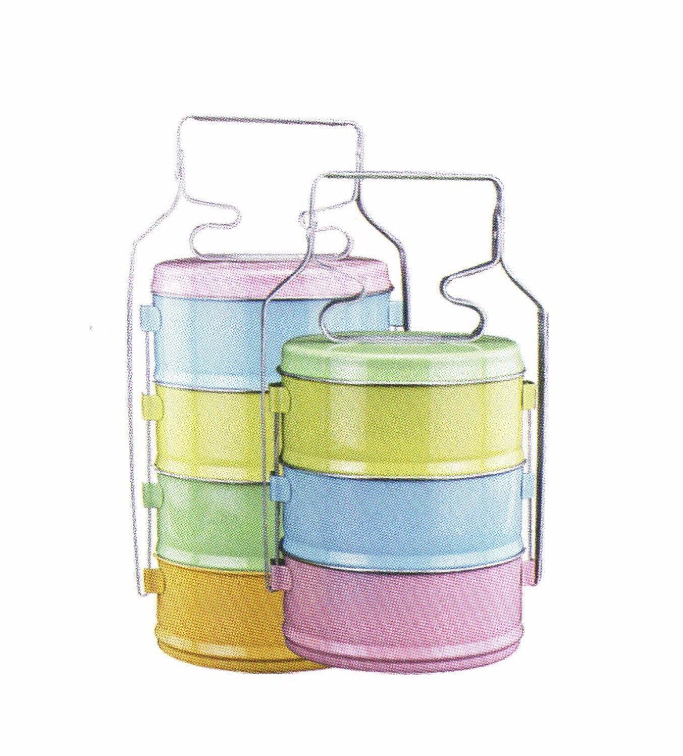 3-4 Layers Stainless Steel Lunch Box Food Carrier Lb004