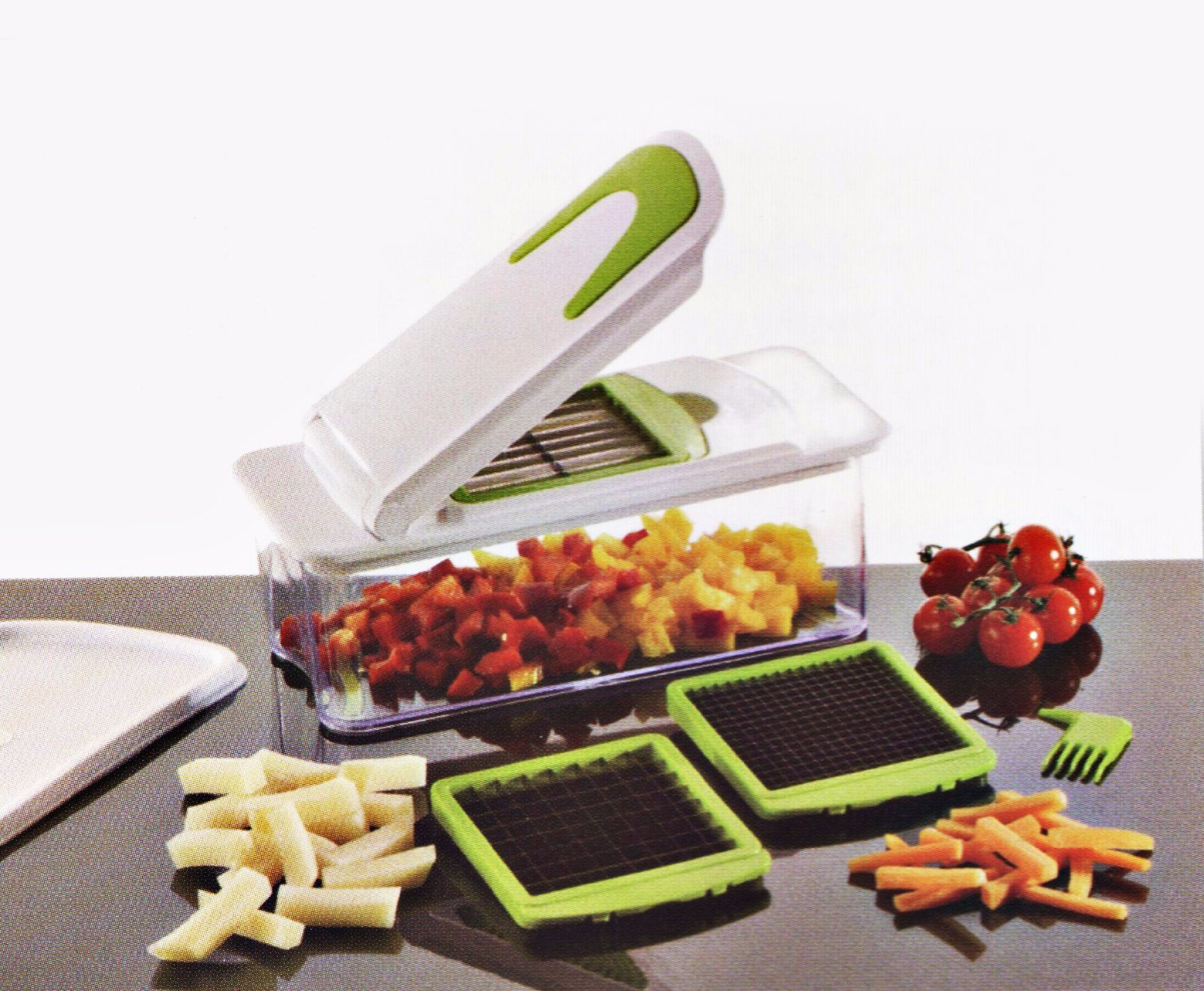 3 in 1 Plastic Vegetable Cutting Food Chopper Dice and Slice Machine Cg080