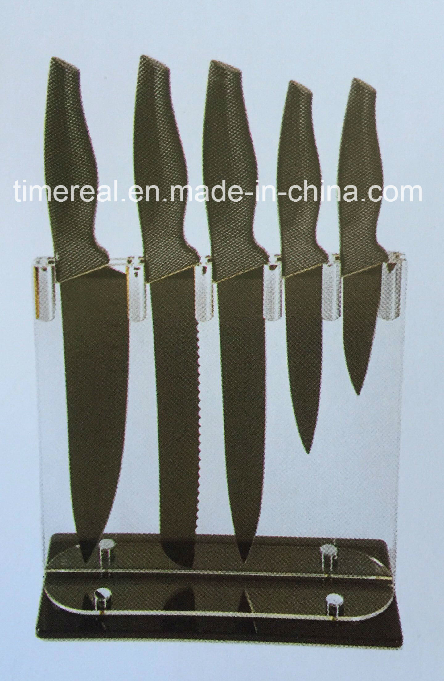 Stainless Steel Kitchen Knives Set with Painting No. Fj-0055