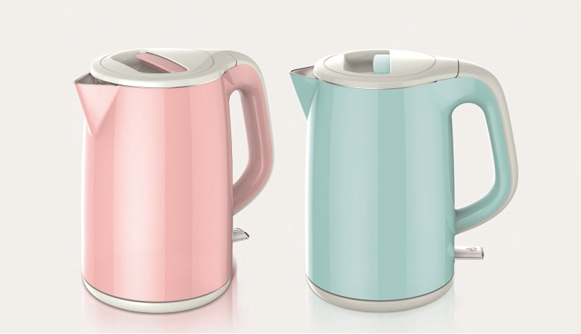 Home Appliance Double Wall Plastic Electrical Kettle with Teapot Ek008
