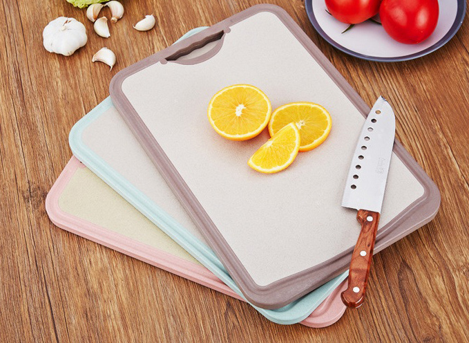 Nature Wheat Straw Chopping Board-No. Gd015-Kitchen Utensil