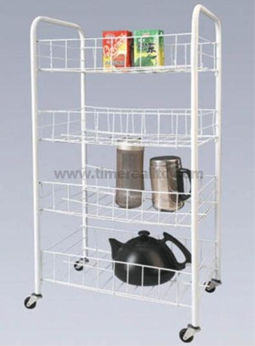 Chrome 4 Tiers Steel Kitchen Storage Rack Sr-B003