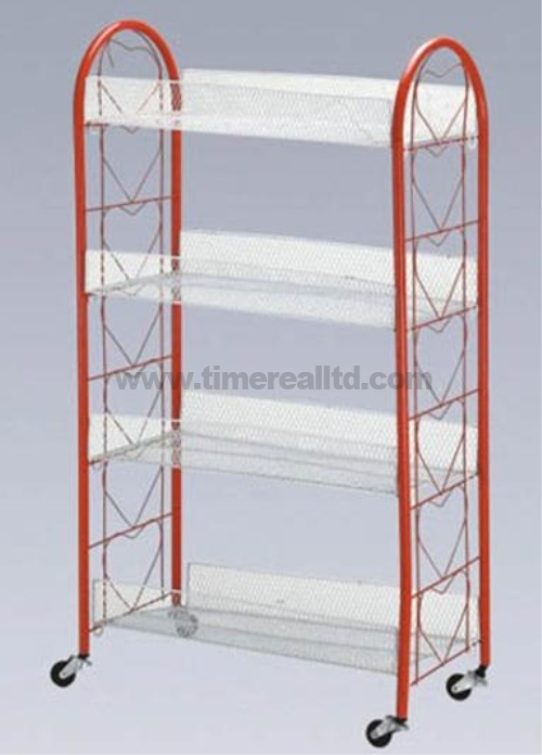 4 Tiers Wire Steel Kitchen Storage Cart Sr-B004