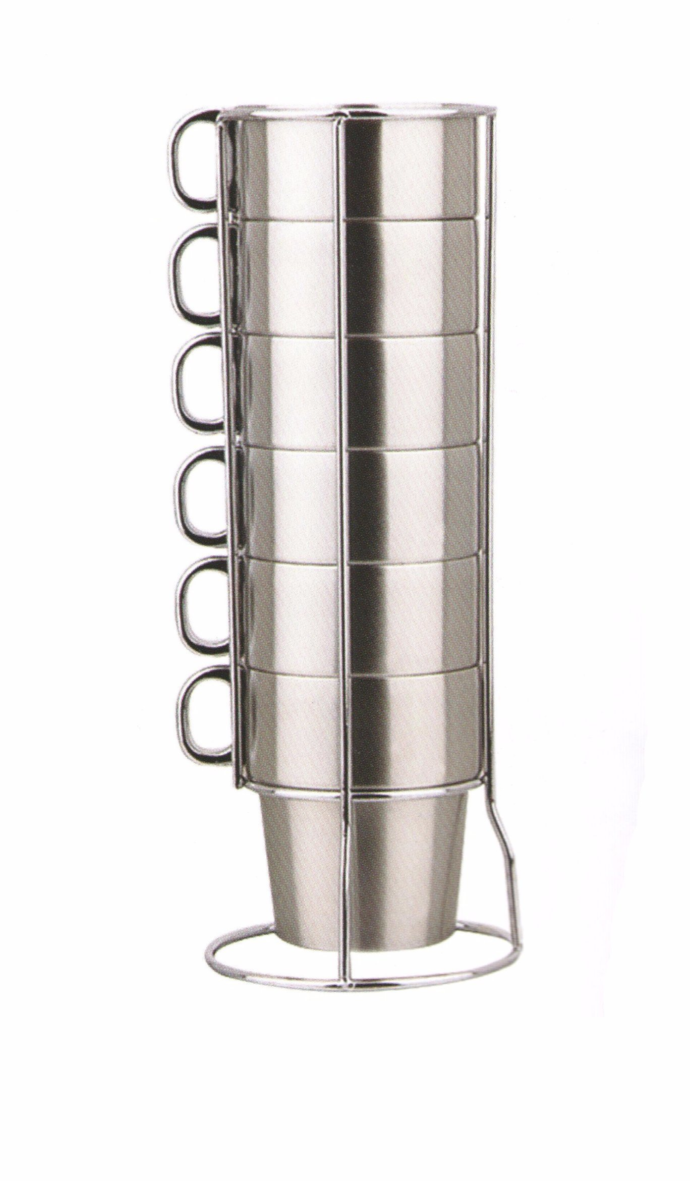 Stainless Steel Coffee Cups Sets-No.Scc022-Dinnerware