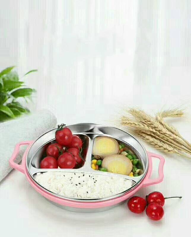China 3 Grids Children Stainless Steel Lunch Box Kitchen Utensils No Lb25 Factory And