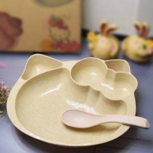 Nature Wheat Straw Hello Kitty Style-No.WS02-Dinnerware