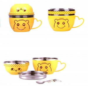 4 Set Series Stainless Steel Children Cups and Lunch Box Scc006