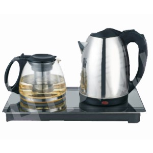Fashion Household Appliance Electrical Kettle with Tea Pot Zy-037