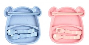 Nature Wheat Straw Children Dinner Set-No.WS05-Dinnerware