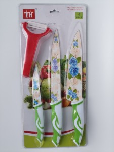4PCS Kitchen Knife Set With Painting
