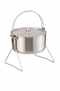 Stainless Steel Tri-ply Camping Pot L Size-No.cp02