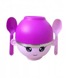Gift Stainless Steel Kids Tallrikar Bowl och barn Köks Set