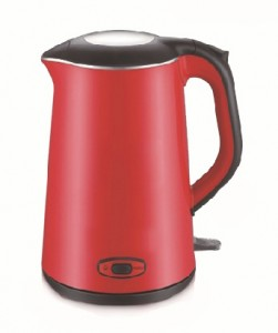 Stainless Steel & Plastic Double Wall Electric Kettle Ek005