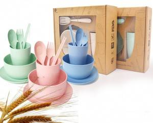 Nature Wheat Straw Cutlery Set-No.WS05-Dinnerware