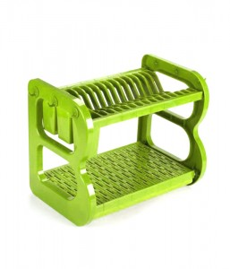 Colorful ABS Kitchen Dish Storage Rack 2 Layers Dr16-BBS