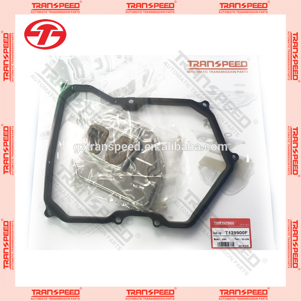 Transpeed new items 09K transmission service kit oil filter gasket kit rubber gasket