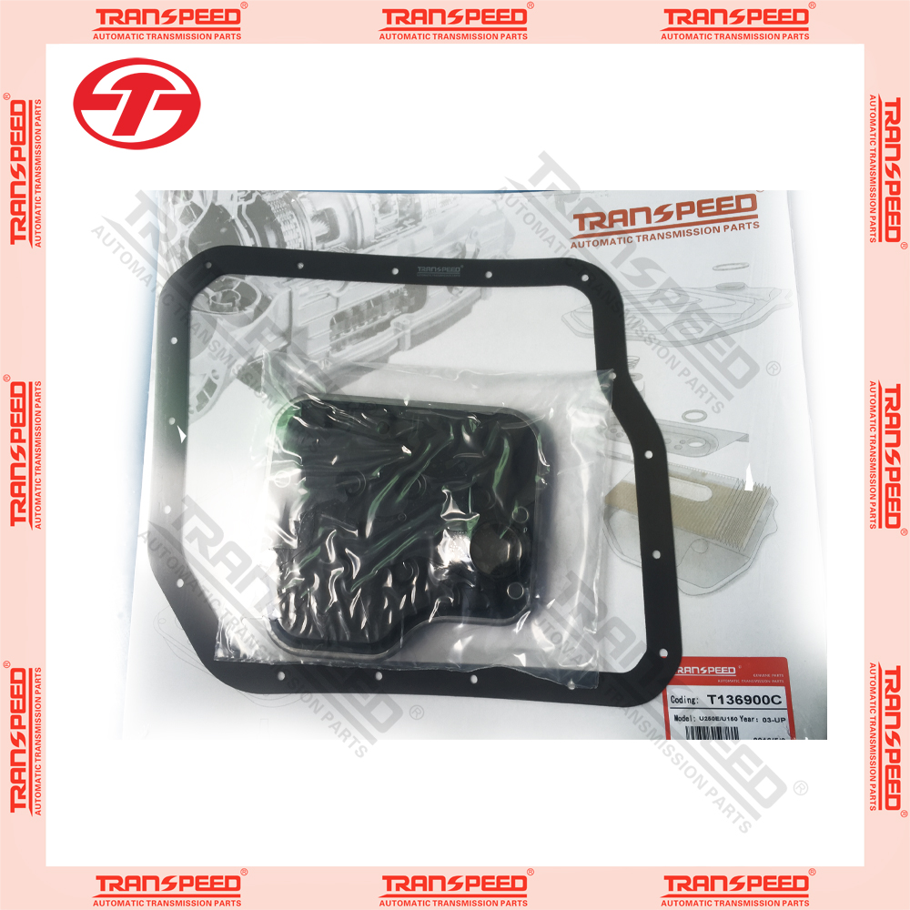 new Transpeed automatic transmission U150 U250 transmission service kit oil filter gasket kit rubber gasket