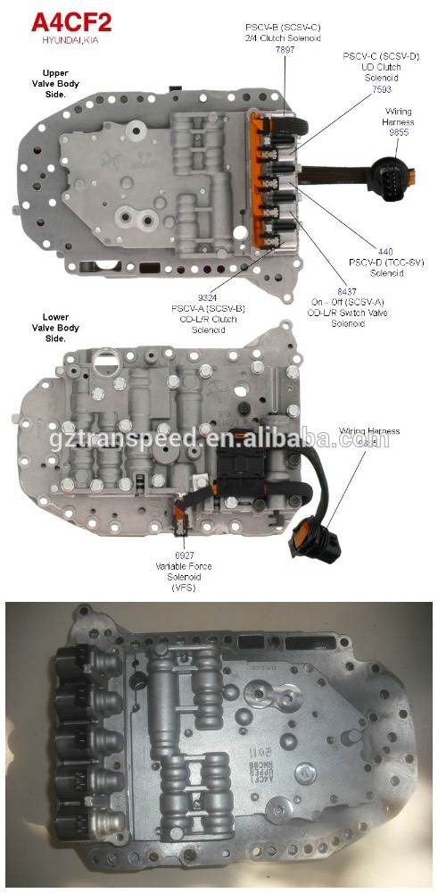CIS hot sale A4CF2 automatic transmission valve body