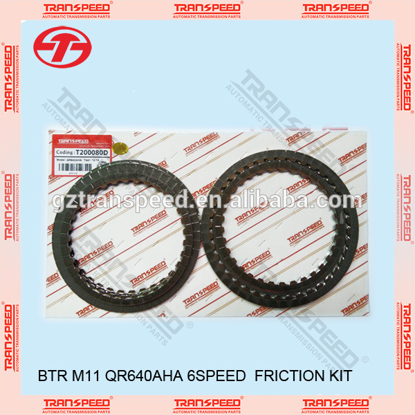 Transpeed BTR transmission M11 friciton kit, QR640AHA 6speed friction kit T200080D Featured Image