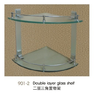 901-2 Double layer glass shelf