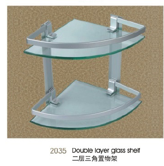 2035 Double layer glass shelf