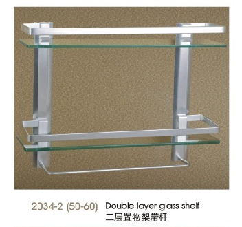 2034-2(50-60) Double layer glass shelf