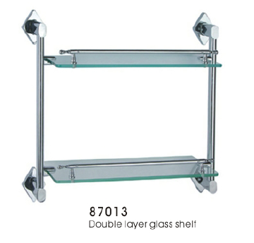 87013 Double layer glass shelf