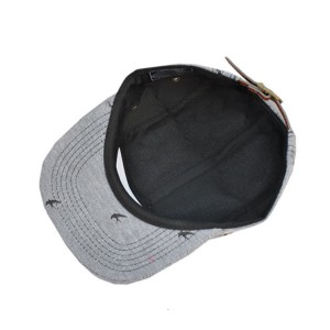 Popular custom leather patch 5 panel cap