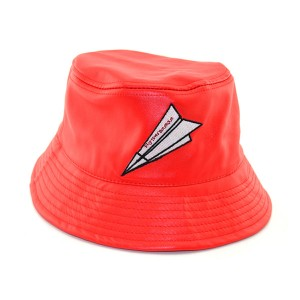Fashion Funny Custom Leather Bucket Hat